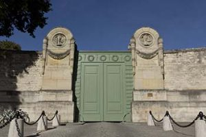 Paris cemetery gates