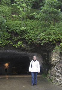 The author at grotte entrance