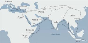map of Silk Road route