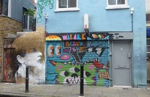 East End London mural