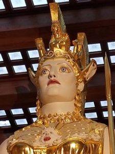 Face of Athena in Parthenon