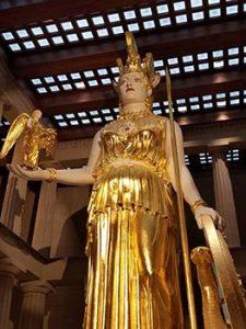 Statue of Athena in Parthenon