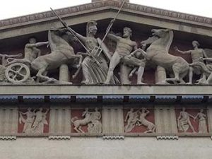 Pediment of Nashville Parthenon