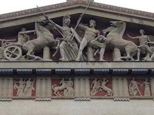 Pediment of Nashville Parthenon