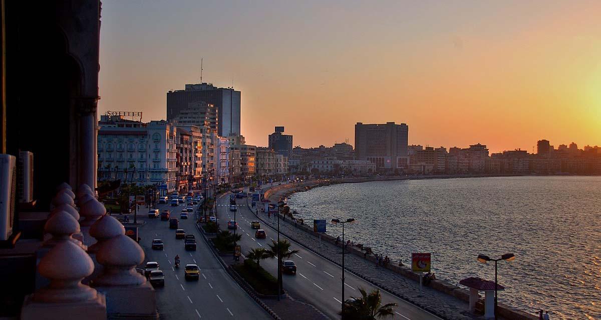alexandria egypt at sunset