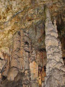 Stalagmites in cave