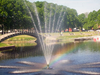 fountain in Parnu, Estonia