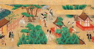 17th century painting of Sumiyoshi Shrine festival