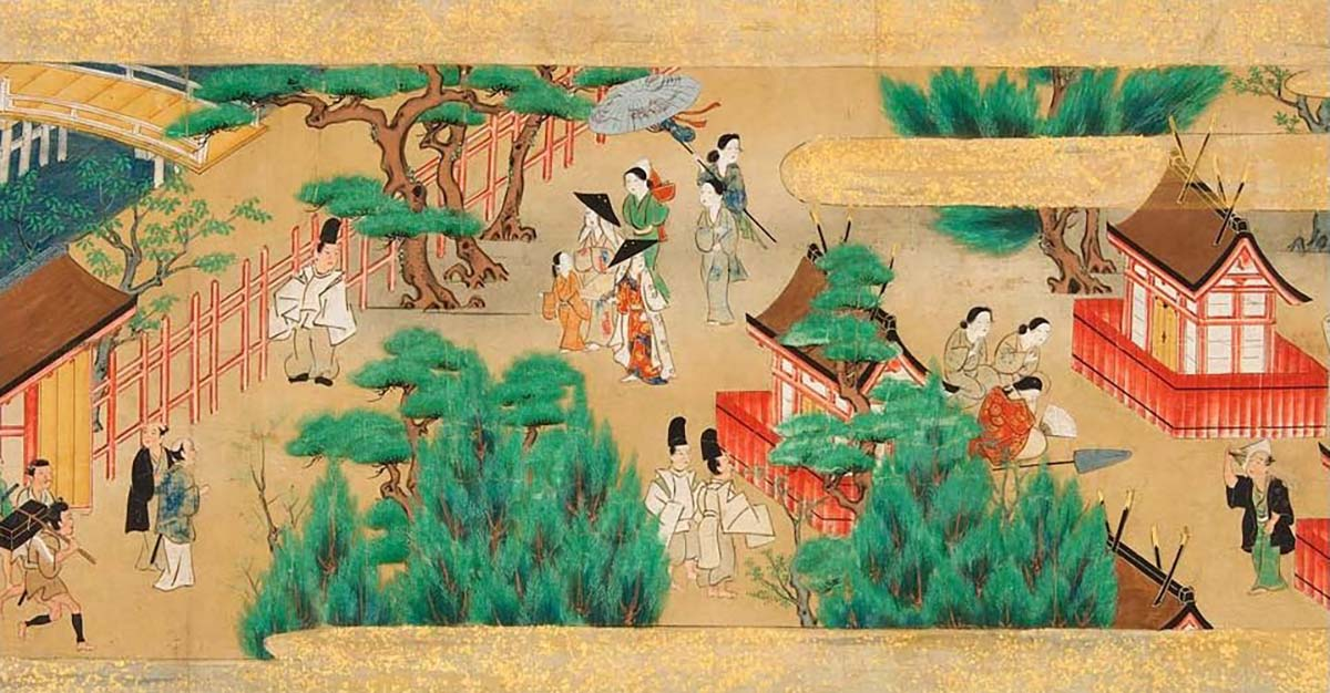 17th century painting of Sumiyoshi Shrine festival