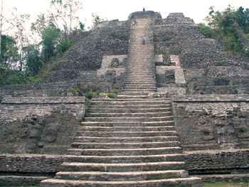 Jaguar temple, Lamanai, Belize