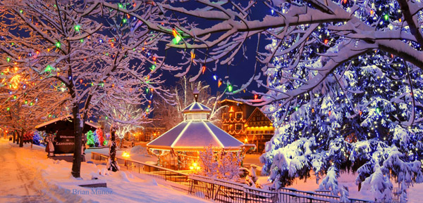 Leavenworth Washington in winter