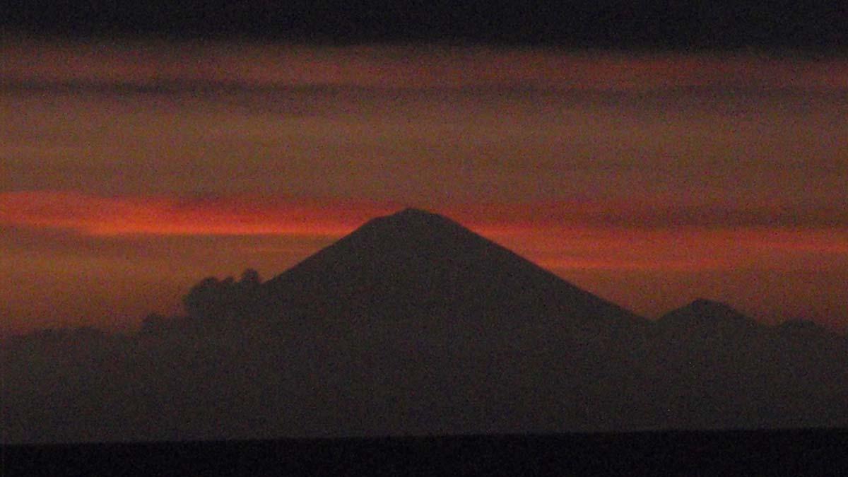 Mount Rinjani at sunset