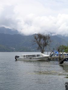 speedboat on lake atitlan