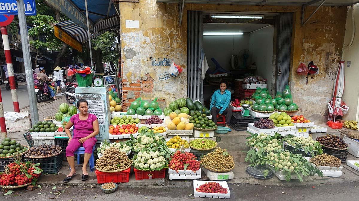 street market Hanoi, Vietnam