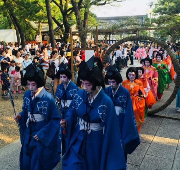 Sumiyoshi festival participants