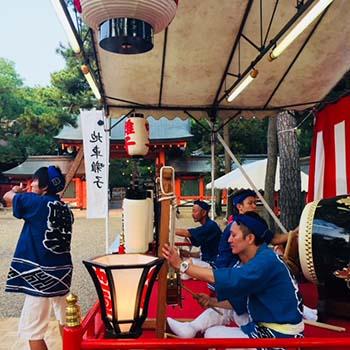 Sumiyoshi festival drummers