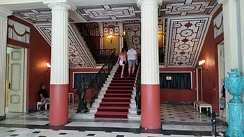 Achilleion stairway