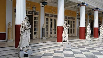 Achilleion courtyard