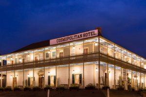 Cosmopolitan hotel at night