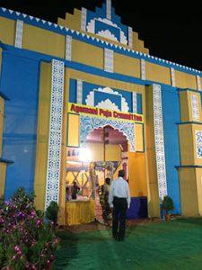 A beautifully designed pandal