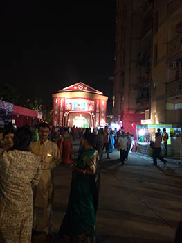 A Durga Puja celebration in a housing society