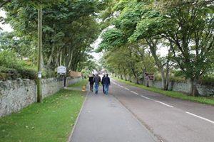 Walking to Lindisfarne village