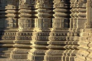 Carvings on Daityasudan Temple pillars