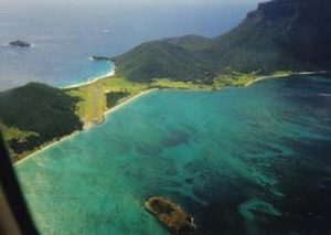 Lord Howe Island aerial view