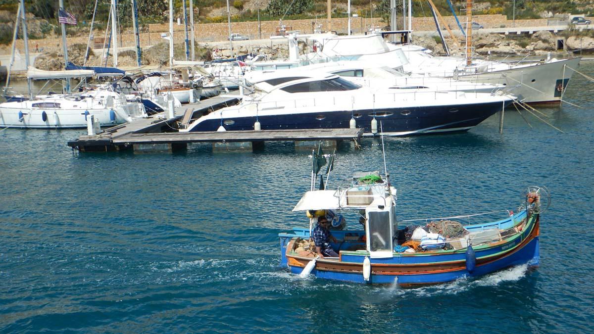 Boats in Malta harbor