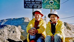 The author and his wife on Mount Kinabalu