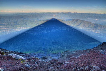 The shadow of Mount Fuji