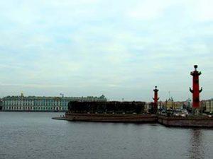 Neva river embankment