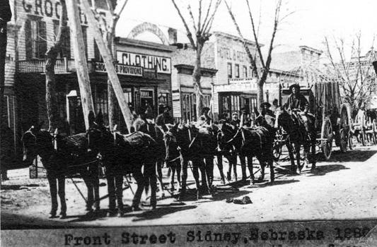 Sidney Nebraska Front Street 1880
