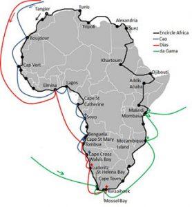 map of Africa trek