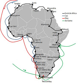 map of Africa trek