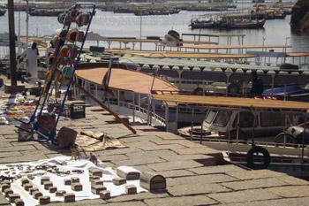 wharf at Aswan, Egypt
