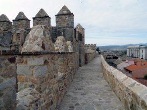 Avila cathedral walkway