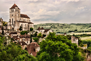 hill town in Dordogne