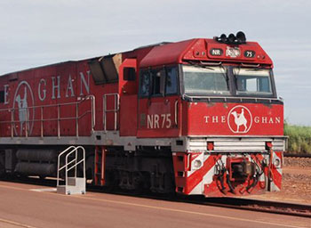The Ghan railway train