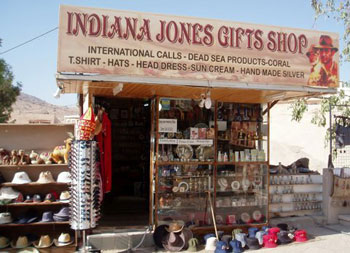 Indiana Jones Gift Shop in Petra Jordan