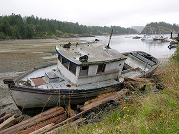 boat on Quadra Island