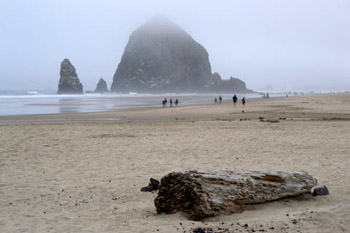 Haystack Rock on Oregon coast