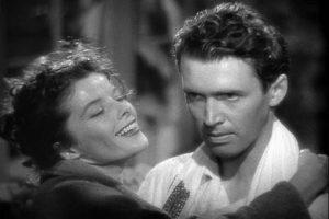 Katharine Hepburn and James Stewart