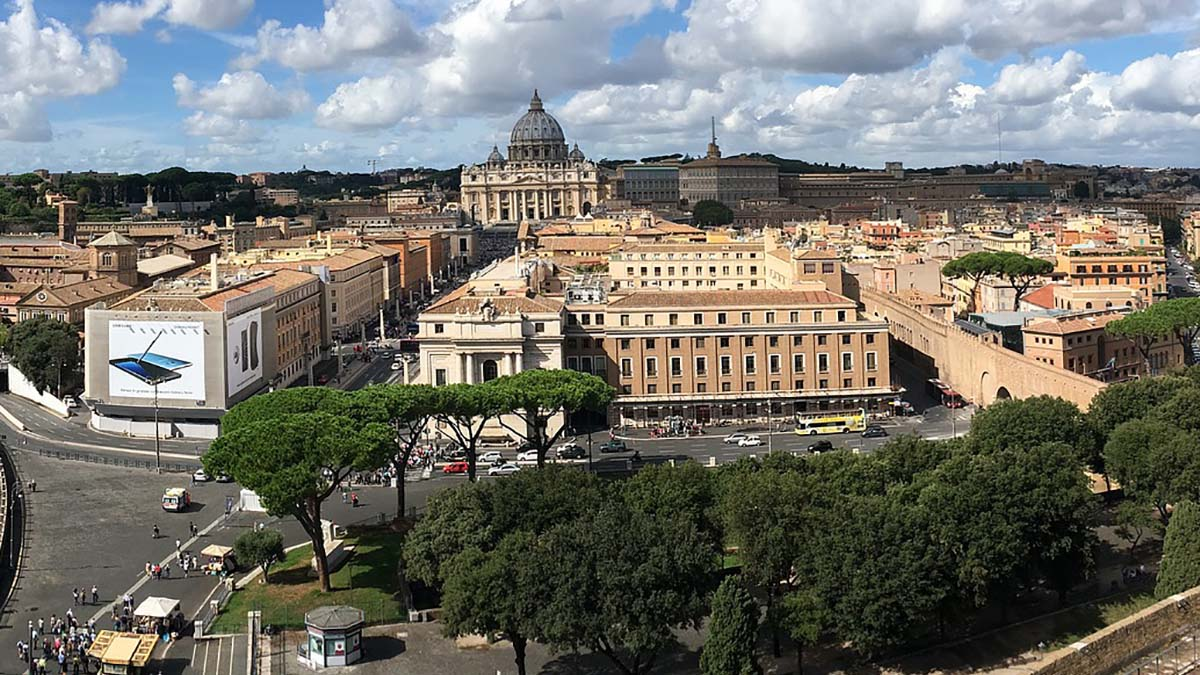 view of Rome and Vatican city