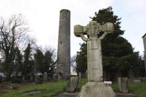 tower and cross at Kells monastery