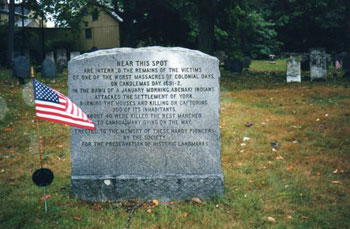 grave marker in Maine cemetery