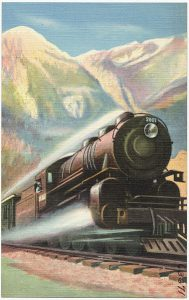 Northern Pacific vintage illustration