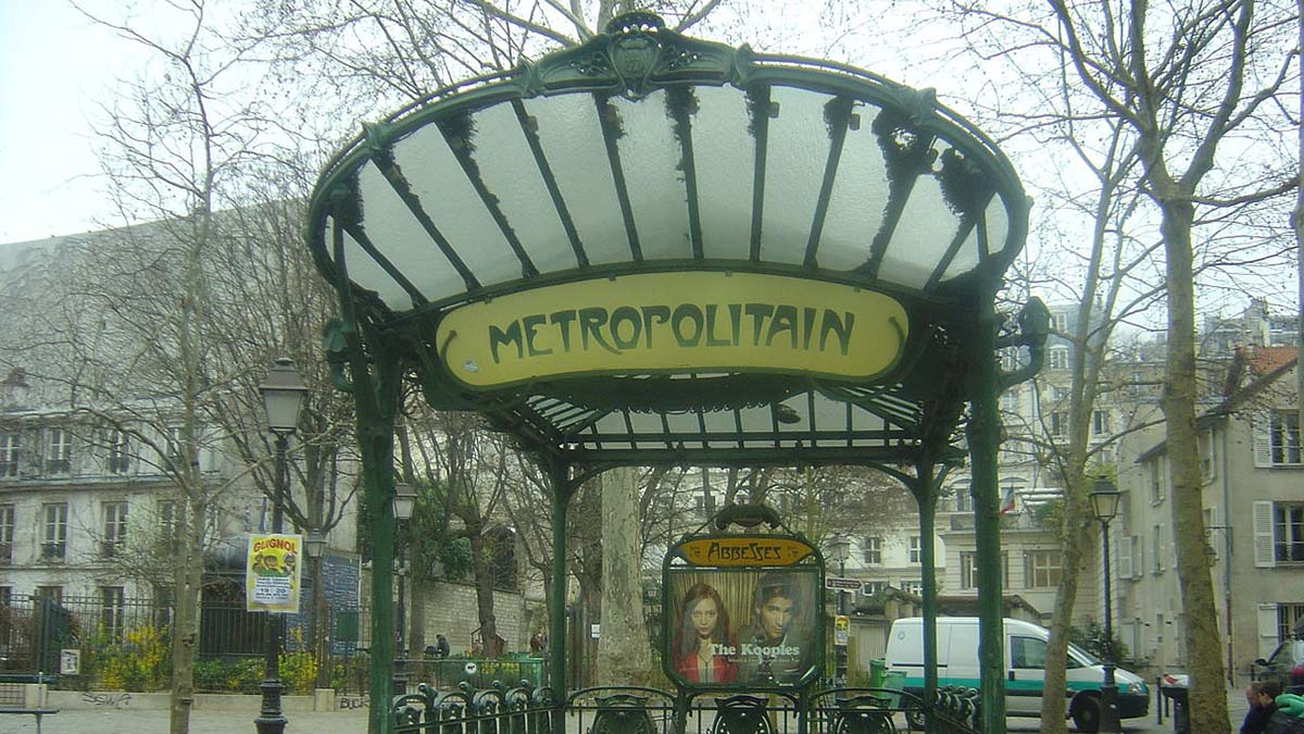 Metro station sign, Paris