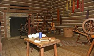 room inside Fort Boonesborough