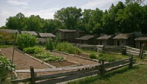 garden plots inside Fort Boonesborough